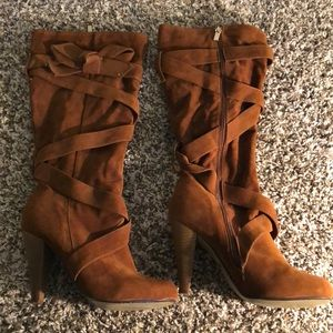 Beautiful faux suede Fall boots